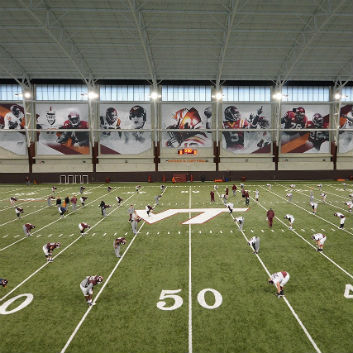 virginia tech indoor practice facility