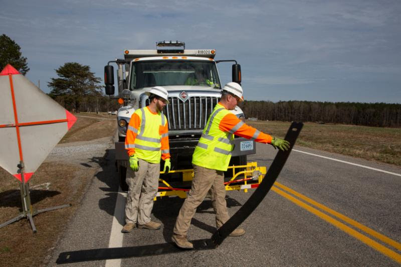 portable temporary rumble strips