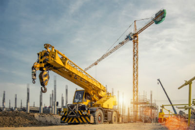 business construction crane