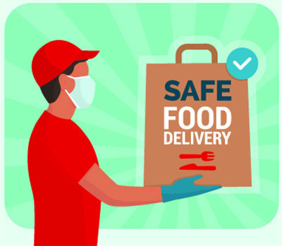 food delivery safe covid