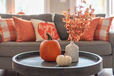 fall interior decorating autumn business pumpkin
