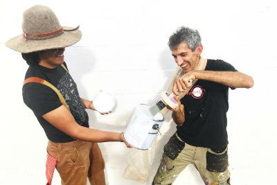 Federico Cuatlacuatl and Chicho Lorenzo