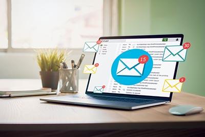 computadora portátil correo electrónico negocio