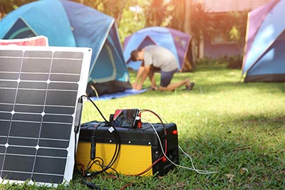 solar charger generator business camping