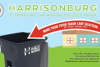 Harrisonburg Toter trash cart
